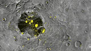 Messnger map of Mercury poles Nasa/JHUAPL/Carnegie Institution