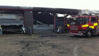 Firefighters tackle the blaze at Willowbrook
