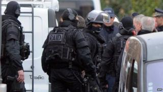 French RAID police in Toulouse