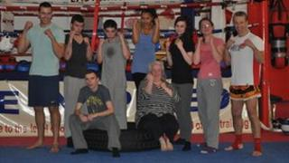 Thai boxing class at Ipswich Kickboxing Academy
