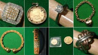 Jewellery and coins