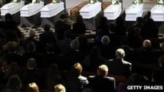 Second funeral service for bus accident victims - 22 March