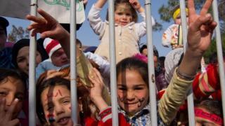 Syrian children at Yayladagi refugee camp