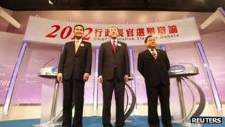 Hong Kong Chief Executive candidates: CY Leung, Henry Tang and Albert Ho