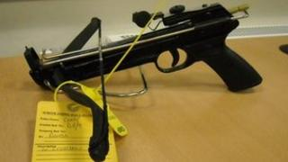 Crossbow recovered by police