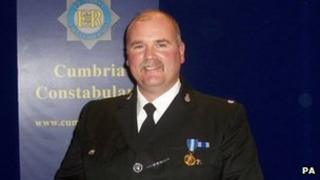 PC Bill Barker was swept away during the floods in Cumbria