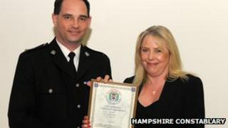 Ch Supt Mark Chatterton and Jane Gothard