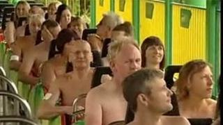Naked rollercoaster world record attempt