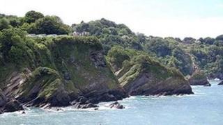 Cliffs at Combe Martin Bay