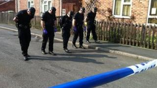 Officers in Hyson Green