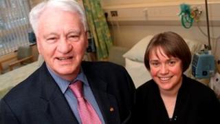 Sir Bobby Robson and Ruth Plummer