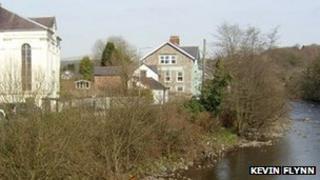 River Tawe at Ystradgynlais