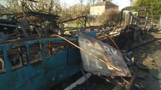 Rail carriage fire in Derbyshire