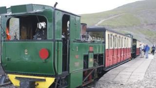 Train on Snowdon