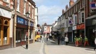 Market Street in Wellingborough