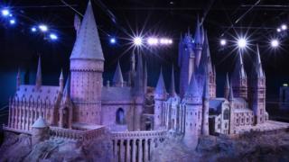 Model of Hogwarts School from the Harry Potter films