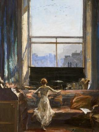 Daylight Raid from My Studio Window by John Lavery