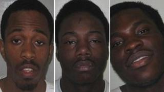 Nathaniel Grant, Anthony McCalla and Kazeem Kolawole