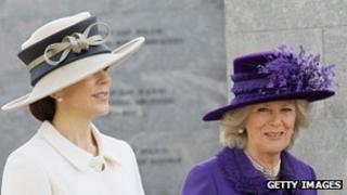 The Duchess of Cornwall and Crown Princess Mary