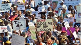 Crowds in Sanford, Florida