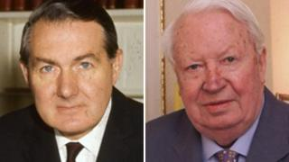 Lord Callaghan of Cardiff (left) and Sir Edward Heath