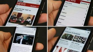 The mobile site on a range of devices