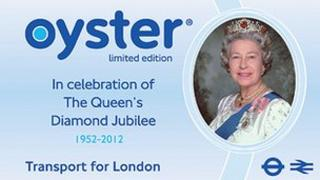 Commemorative Oyster card for the Jubilee