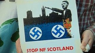Protest poster against National Front march