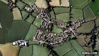 Aerial view of St Mabyn