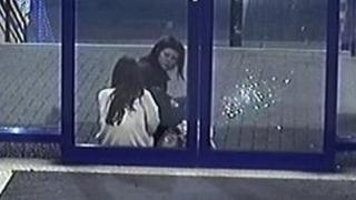 Woman wanted in connection with smashed window