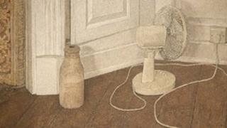 Still life with electric fan by Antony Williams