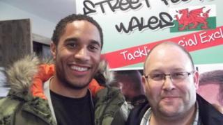 Ashley Willams and Keith Harris of Street Football Wales