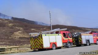 Fire crews in Wester Ross. Pic: Iain MacDonald