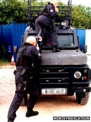 Police firearms pic courtesy of MEN