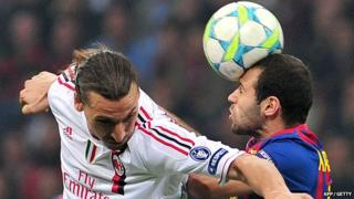 AC Milan hold off Barcelona in the Champions League