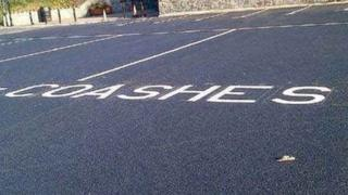 """The """"coashes"""" sign at Morfa Bach car park, Conwy (picture courtesy of dailypost.co.uk)"""