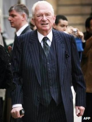 French Perfumer Jean-Paul Guerlain at the Elysee Palace in Paris before being knighted, February 2008