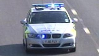 Police car taking part in Operation Vanguard