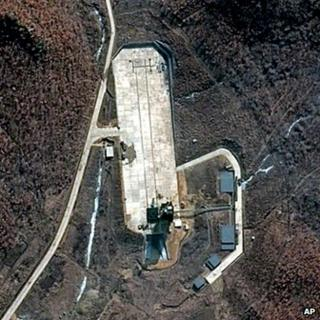 This March 28, 2012 satellite image provided by DigitalGlobe shows North Korea's Tongchang-dong Launch Facility on the nation's northwest coast
