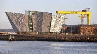 The futuristic Titanic Belfast complex was built 100 yards from where the liner was constructed