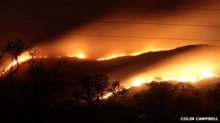 Fire on heathland. Photo by Colin Campbell