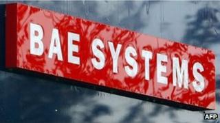 BAE Systems sign at Warton