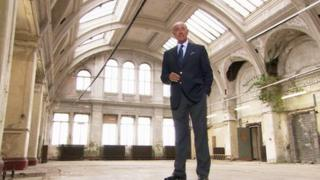 Len Goodman in Harland & Wolff drawing office