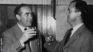 Alf Ramsey with Ipswich chairman John Cobbold