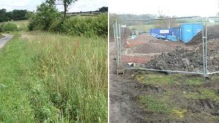 A photo of the protected verge on Wickridge Street, Ashleworth, before and after the work by Morgan Sindall