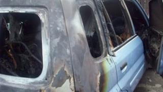Arson attack car