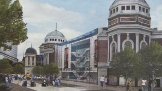 Artists' impression of how the restored Odeon would look