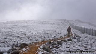 Snow in Cairngorms. Pic: SAIS Northern Cairngorms