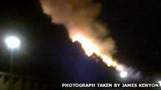 The gorse fire at Canford Cliffs, Poole