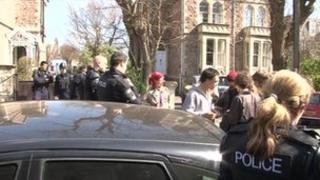 police raid, Clifton Wood House